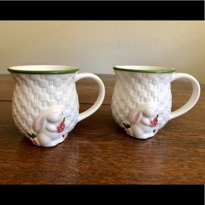 Pair of VTG Avon Bunny Collection mugs
